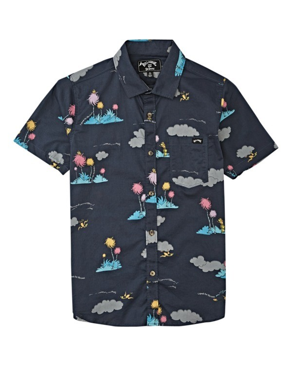 0 Boys' Lorax Island Short Sleeve Shirt Black B5162BLO Billabong