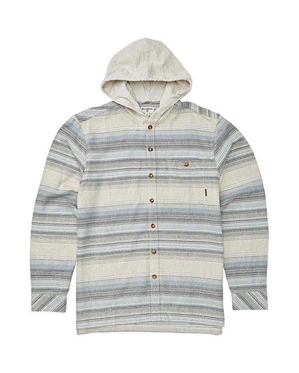 0 Boys' Baja Flannel Shirt Beige B521VBBF Billabong