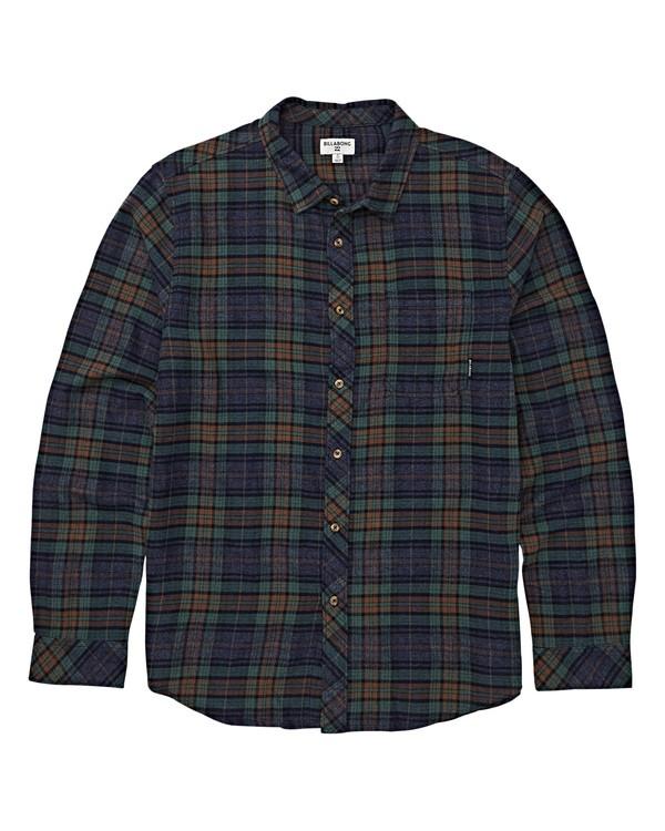0 Boys' Freemont Flannel Shirt Blue B523VBFR Billabong