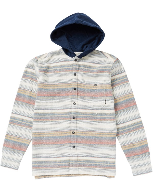 0 Boys' Baja Hooded Flannel Shirt  B526SBBF Billabong