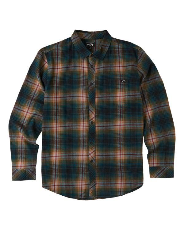 0 Boys' Coastline Flannel Shirt Black B5323BCO Billabong