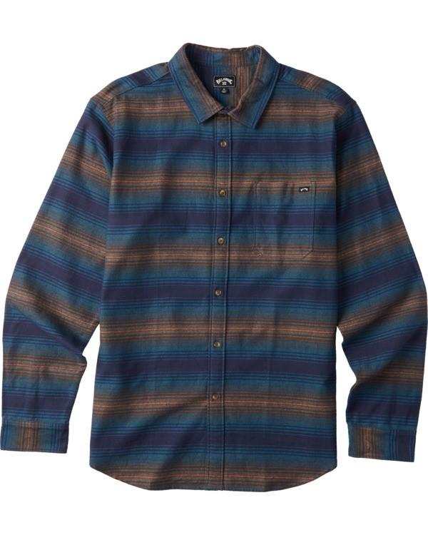 0 Boys' Coastline Flannel Shirt Blue B5323BCO Billabong