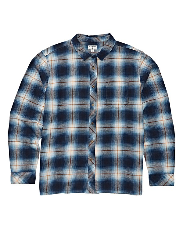 0 Boys' Coastline Long Sleeve Flannel Blue B532VBCO Billabong