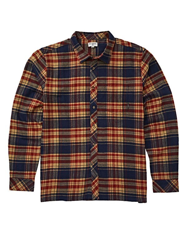 0 Boys' Coastline Long Sleeve Flannel  B532VBCO Billabong