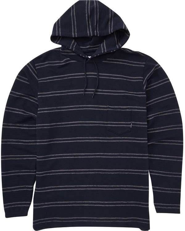 0 Boys' Flecker Cortez Pullover Hoodie Blue B640TBFC Billabong