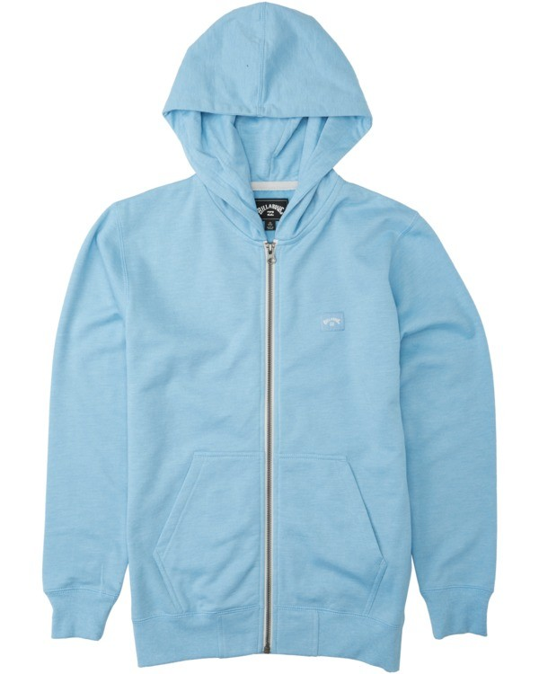 0 Boys' All Day Zip Hoodie Blue B6603BAZ Billabong