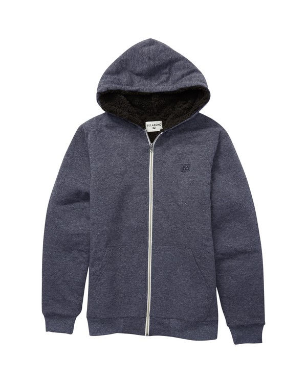 0 Boys' All Day Sherpa Zip Sweatshirt Blue B660VBAS Billabong