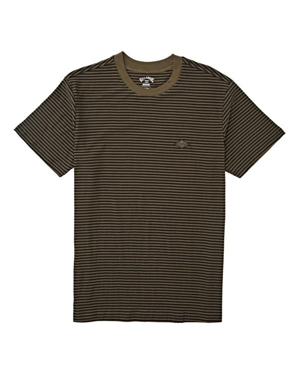 0 Boys' Die Cut Stripe Short Sleeve Crew T-Shirt Green B9041BDI Billabong
