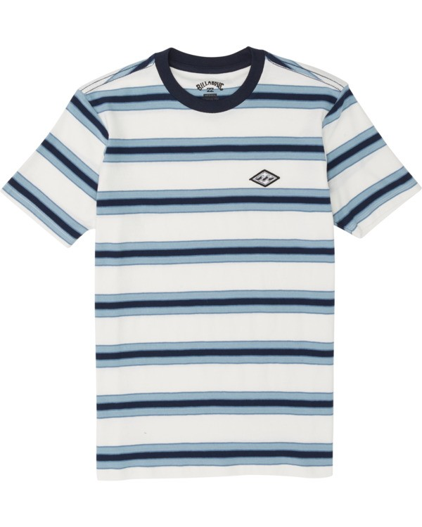 0 Boys' Die Cut Stripe Short Sleeve Crew T-Shirt  B9041BDI Billabong