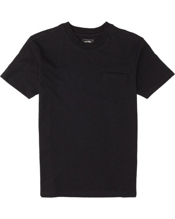 0 Boys' Mesa Slub Crew T-Shirt Black B9041BMS Billabong