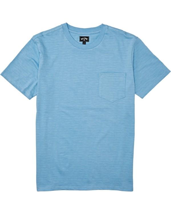 0 Boys' Mesa Slub Crew T-Shirt Blue B9041BMS Billabong