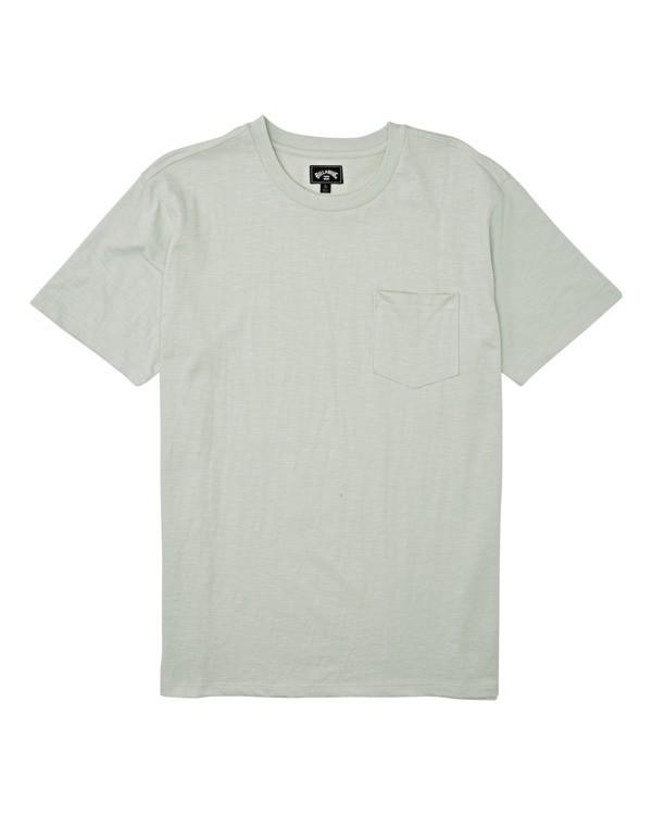0 Boys' Mesa Slub Crew T-Shirt Grey B9041BMS Billabong