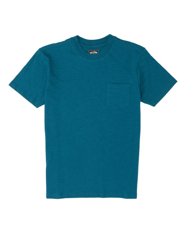 0 Boys' Mesa Slub Crew T-Shirt Blue B9041BMS Billabong