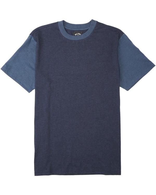 0 Boys' Zenith Short Sleeve Crew Shirt Blue B9043BZE Billabong