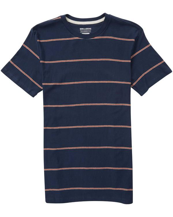 0 Boys' Die Cut Stripe Crew Tee Blue B905NBDI Billabong
