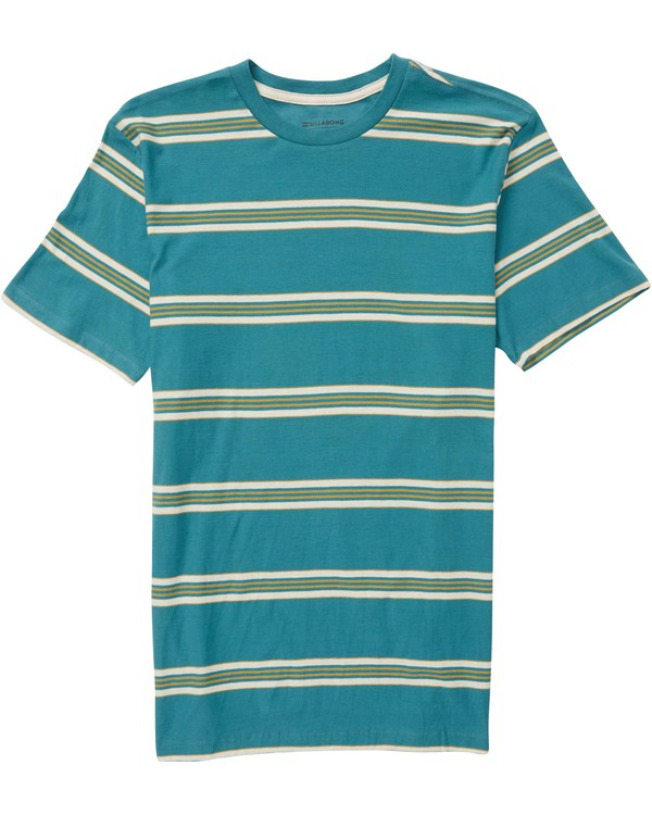 0 Boys' Die Cut Stripe Crew Tee  B905NBDI Billabong