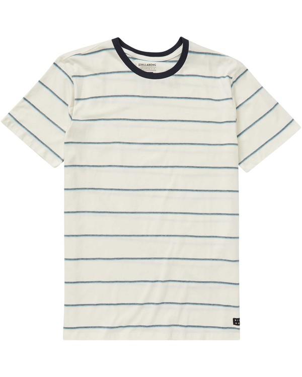 0 Boys' Die Cut Stripe Crew Tee White B905NBDI Billabong