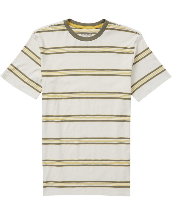 0 Boys' Die Cut Stripe Crew T-Shirt Grey B905NBDI Billabong