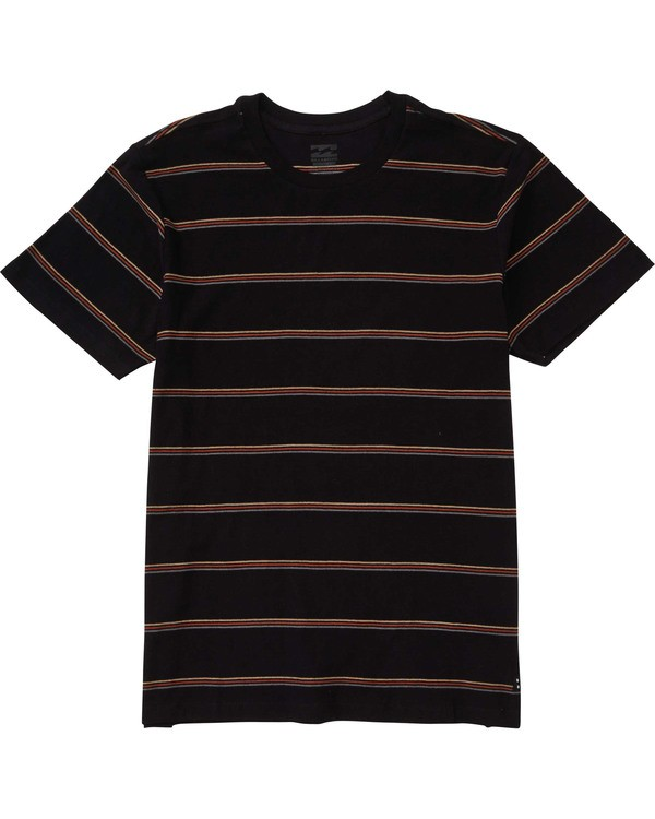 0 Boys' Die Cut Stripe Short Sleeve Tee Black B905TBDI Billabong