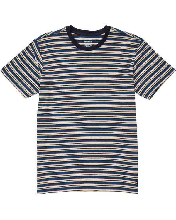0 Boys' Die Cut Stripe Short Sleeve Tee Blue B905TBDI Billabong