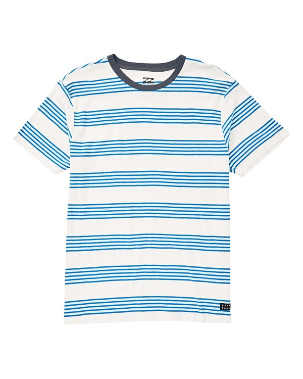 0 Boys' Die Cut Stripe Short Sleeve T-Shirt White B905TBDI Billabong
