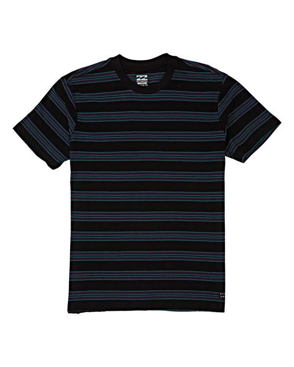 0 Boys' Die Cut Stripe Short Sleeve Black B905VBDI Billabong