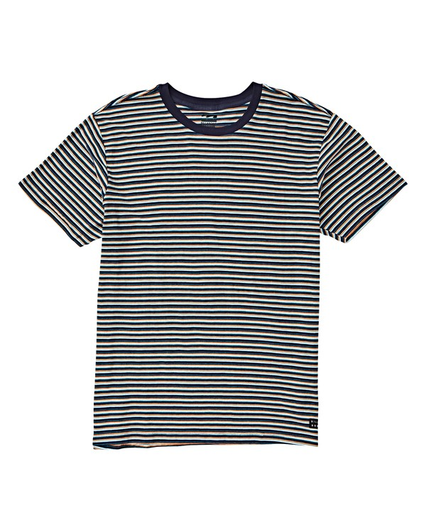 0 Boys' Die Cut Stripe Short Sleeve Brown B905VBDI Billabong