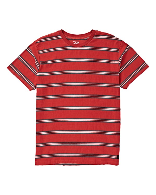0 Boys' Die Cut Stripe Short Sleeve Red B905VBDI Billabong