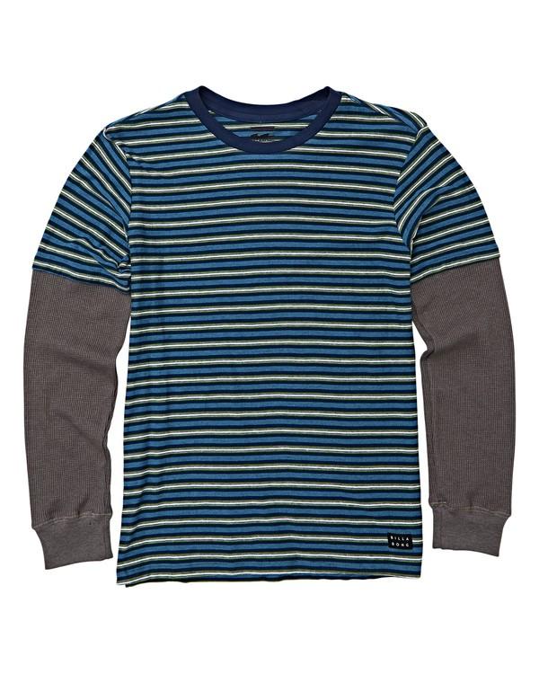 0 Boys' Die Cut Twofer Long Sleeve T-Shirt Blue B905WBTW Billabong