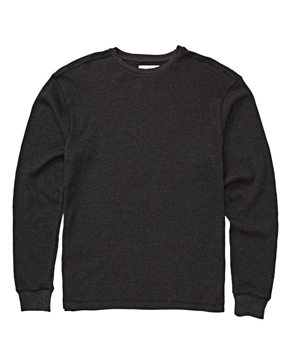 0 Boys' Essential Thermal Knit Black B917WBES Billabong