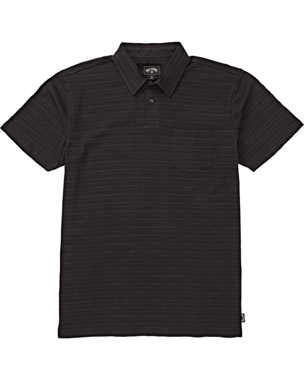 0 Boys' Standard Issue Polo Shirt Black B9181BST Billabong