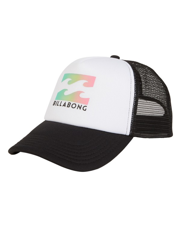 0 Boys' Podium Trucker Hat White BAHTGPOD Billabong