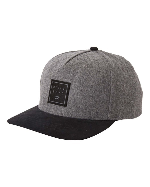 0 Boys' Stacked Up Snapback Hat Grey BAHW3BSU Billabong