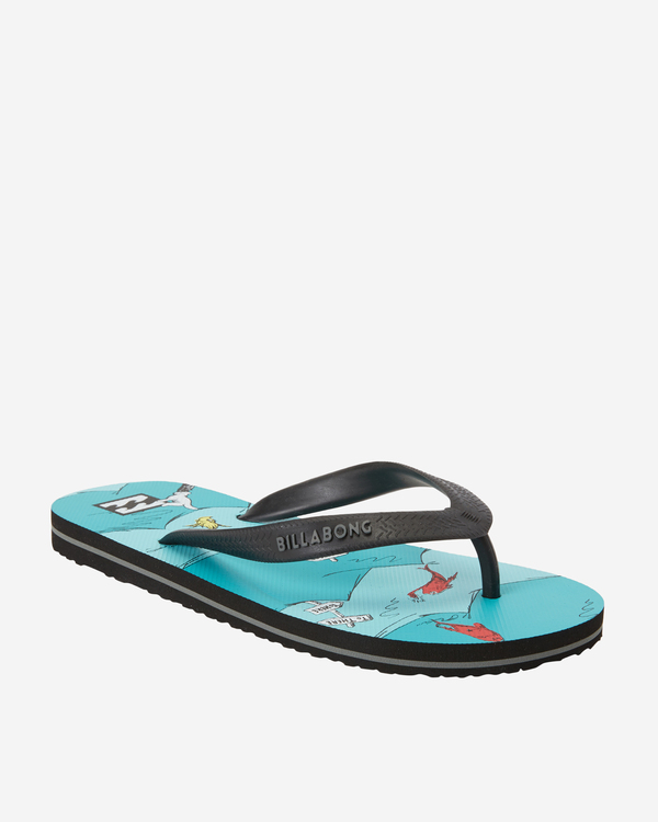 0 Boys' One Fish Two Fish Tides Sandals Blue BFOT3BON Billabong