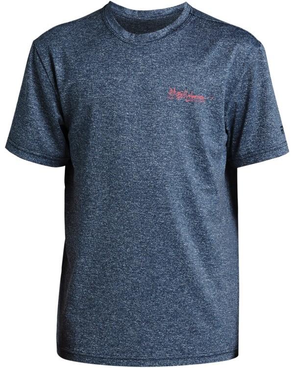 0 Boys' Crayon Wave Loose Fit Short Sleeve Rashguard Blue BR013BCW Billabong