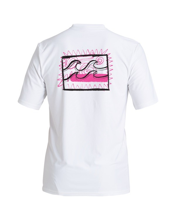 0 Boys' Crayon Wave Loose Fit Short Sleeve Rashguard White BR013BCW Billabong