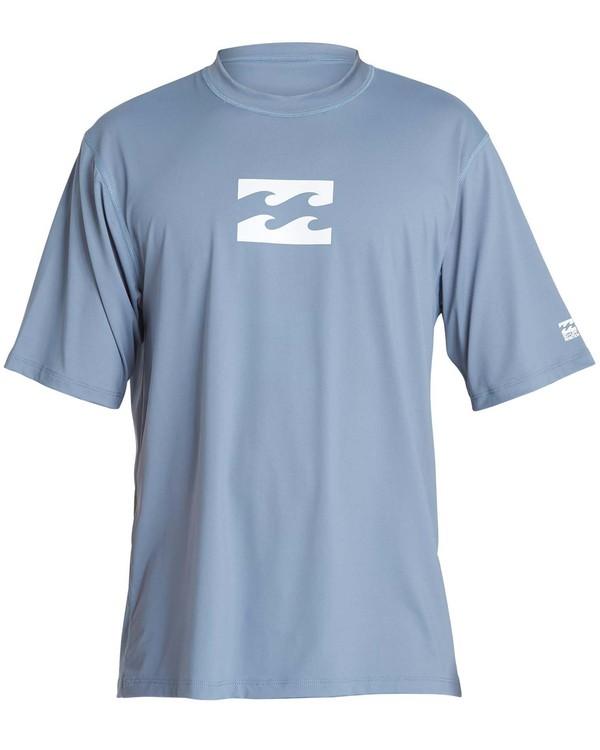 0 Boys' All Day Wave Loose Fit Short Sleeve Rashguard Blue BR07NBWL Billabong