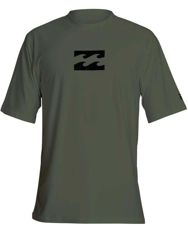 0 Boys' All Day Wave Loose Fit Short Sleeve Rashguard Green BR07NBWL Billabong