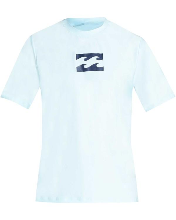 0 Boys' All Day Wave Loose Fit Short Sleeve Rashguard Blue BR07TBWL Billabong