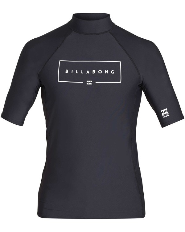 0 Boys' Union Performance Fit Short Sleeve Rashguard Black BR11TBUN Billabong