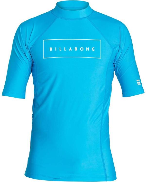 0 Boys' All Day United Performance Fit Short Sleeve Rashguard Blue BR12NBAU Billabong