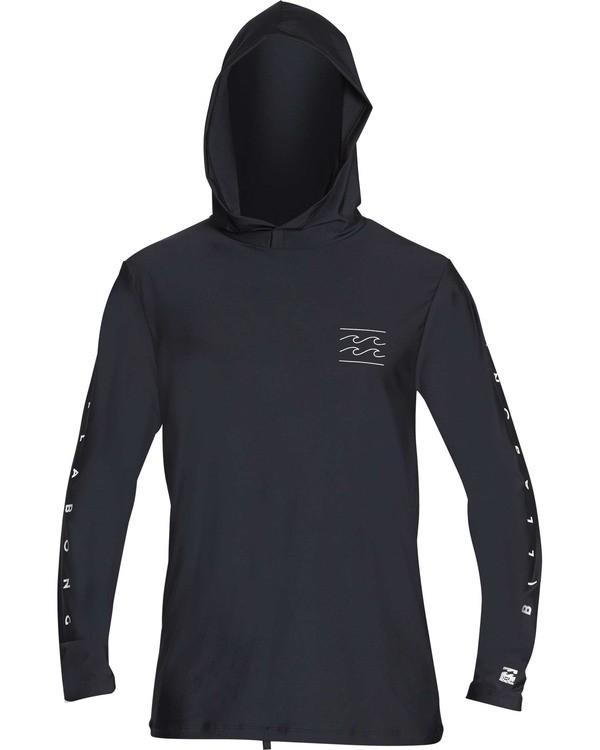 0 Boys' Unity Hooded Loose Fit Long Sleeve Rashguard Black BR52TBUH Billabong