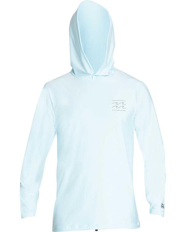 0 Boys' Unity Hooded Loose Fit Long Sleeve Rashguard Blue BR52TBUH Billabong