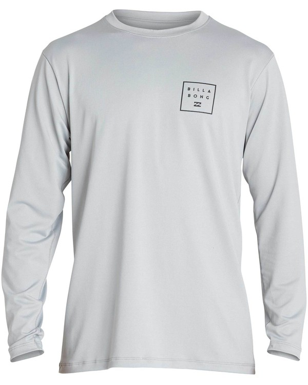 0 Boys' All Day Mesh Lf Ls Rashguard Grey BR53NBAM Billabong