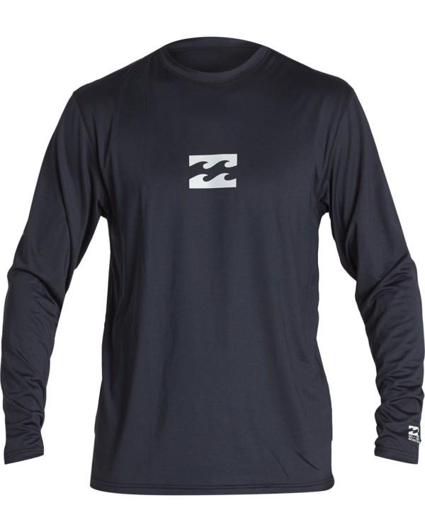 0 Boys' All Day Wave Loose Fit Long Sleeve Surf Shirt Black BR591BAL Billabong