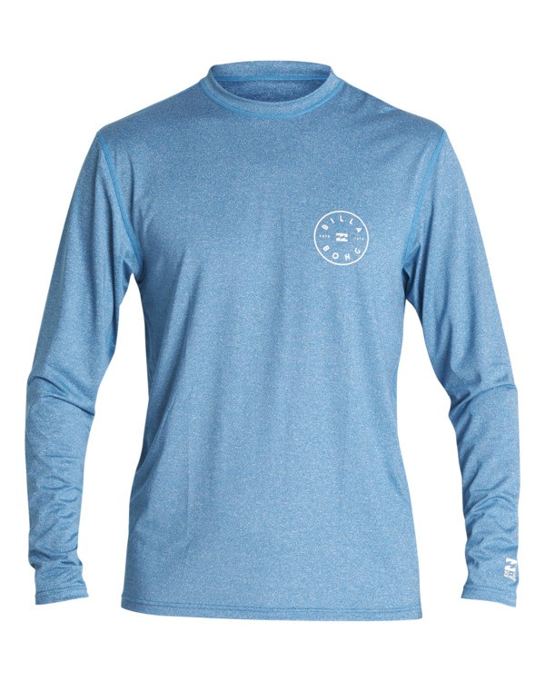 0 Boys' Rotor Loose Fit Long Sleeve Surf Shirt Blue BR591BRO Billabong