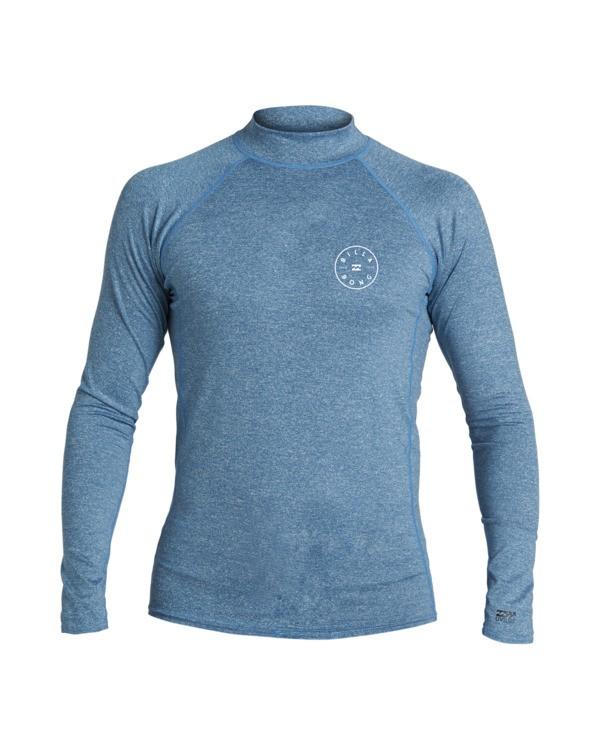 0 Boys' Rotor Loose Fit Long Sleeve Rashguard Blue BR593BRO Billabong