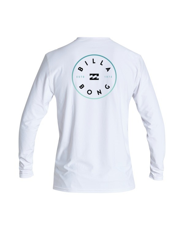 0 Boys' Rotor Loose Fit Long Sleeve Rashguard White BR593BRO Billabong