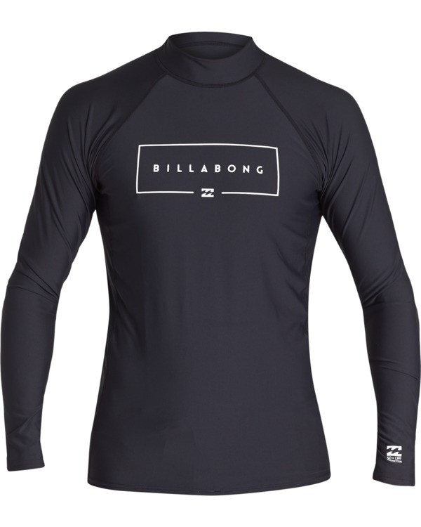 0 Boys' Union Performance Fit Long Sleeve Rashguard Black BR601BUN Billabong