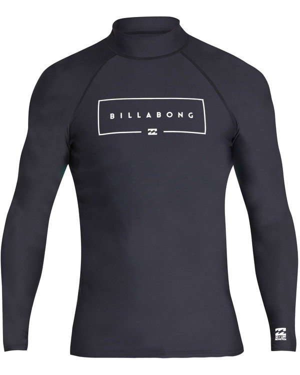 0 Boys' Union Performance Fit Long Sleeve Long Sleeve Rashguard Black BR60TBUN Billabong